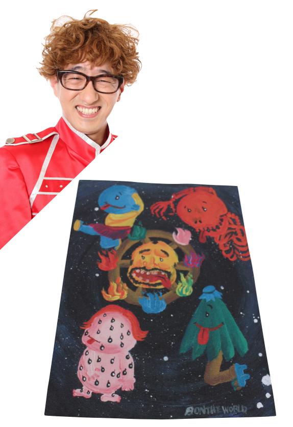 【京都国際映画祭展示の吉本芸人アートバッグ】ボンざわーるど「お化け映え」