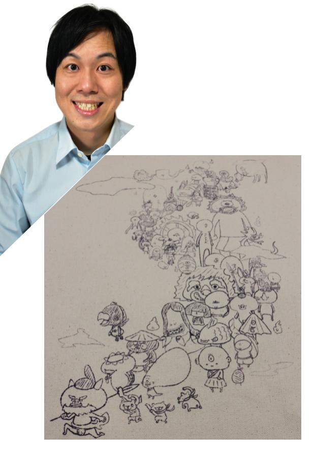 【京都国際映画祭展示の吉本芸人アートバッグ】ナカノコ「HYAKKI YAKOO」
