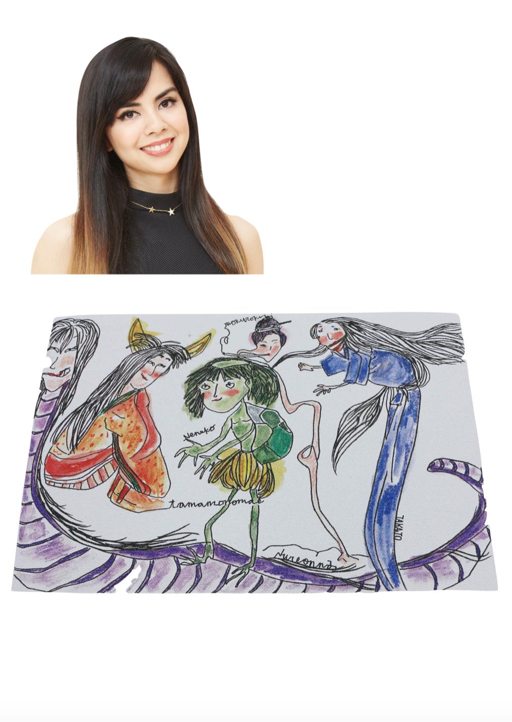 【京都国際映画祭展示の吉本芸人アートバッグ】ロバータ「YOKAI GIRL POWER」
