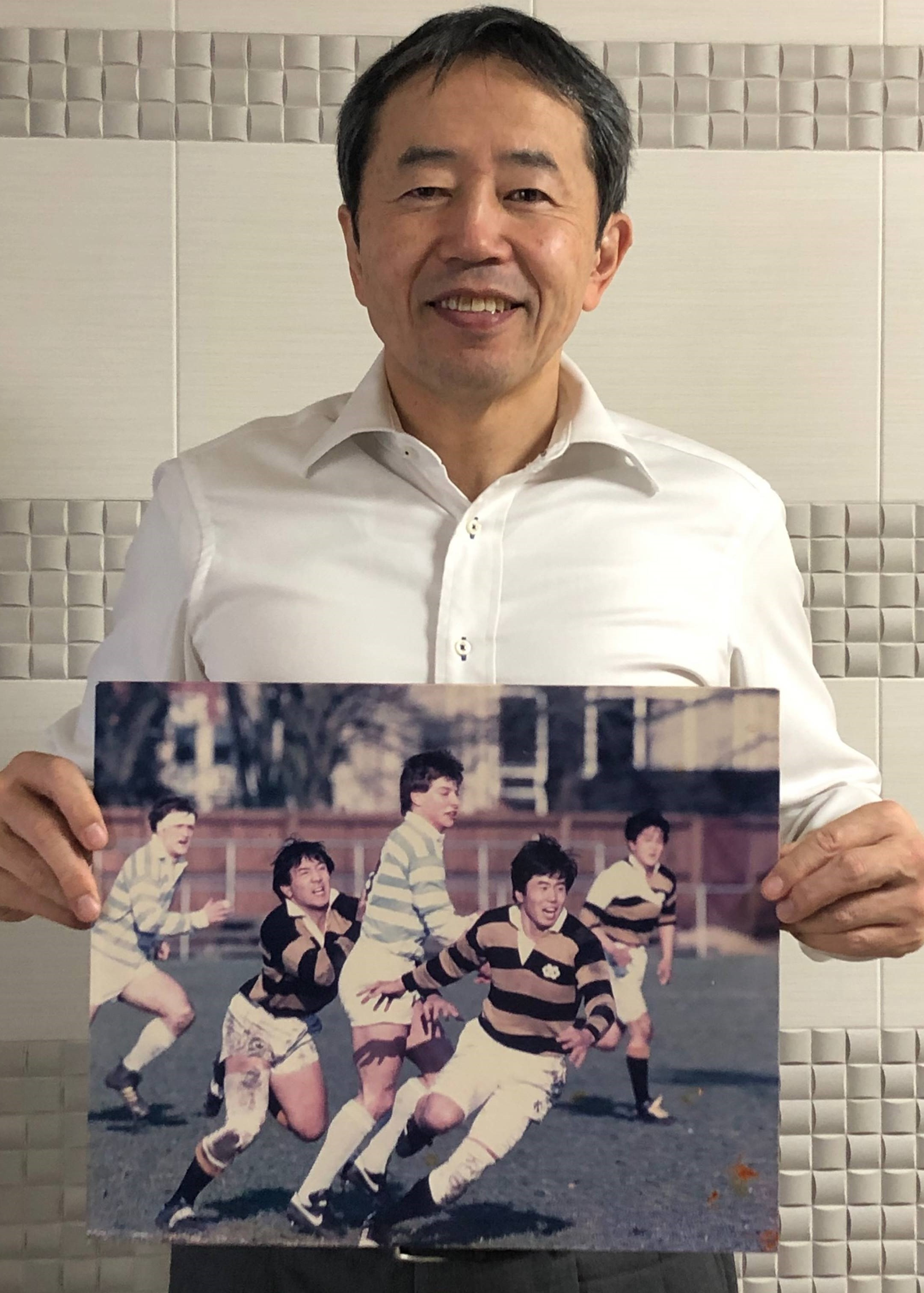 【公式】実使用「慶応ラグビー歴戦の記念品」 松永 敏宏