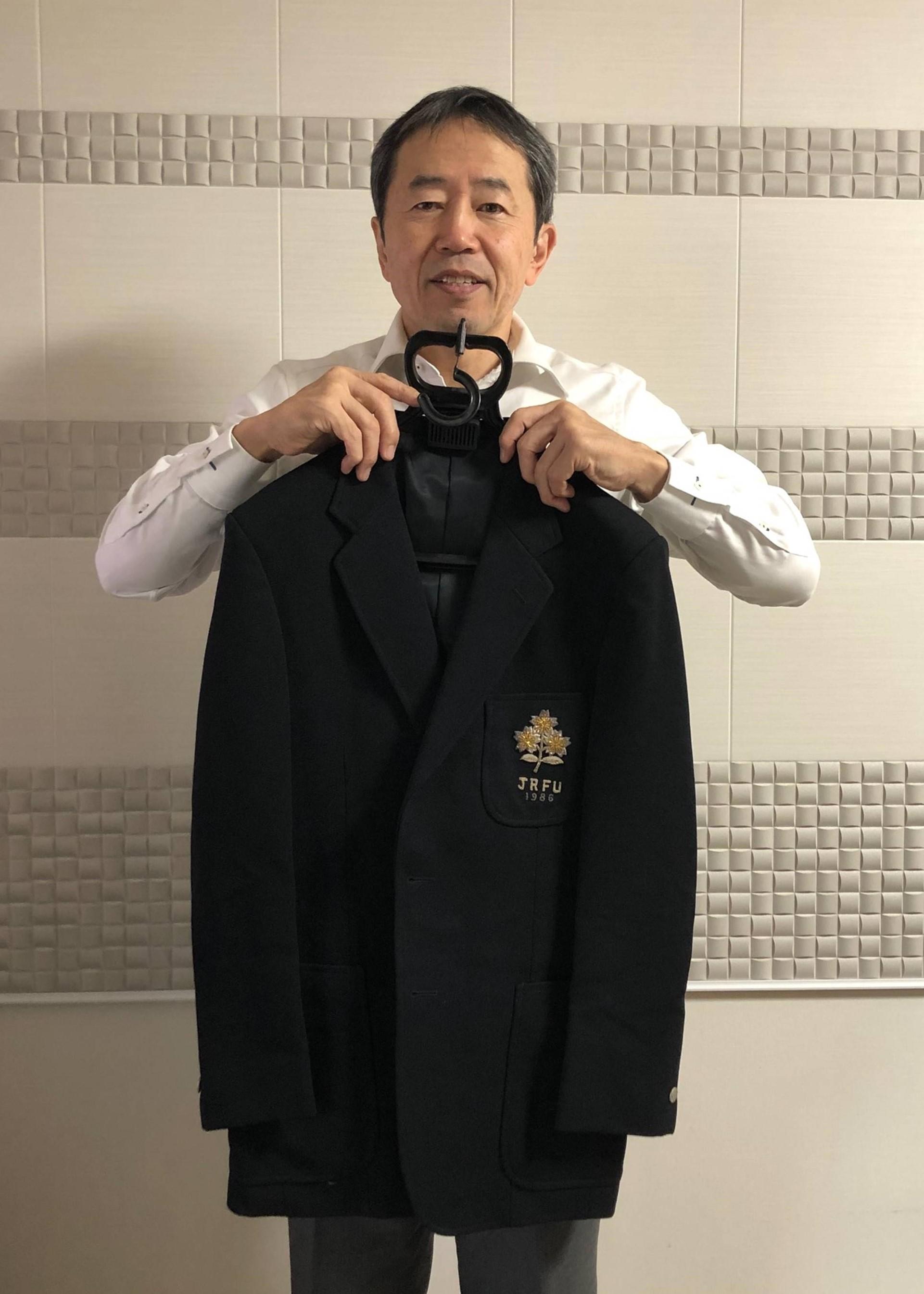 【公式】実使用「1986年全日本北米遠征時ブレザー」 松永 敏宏