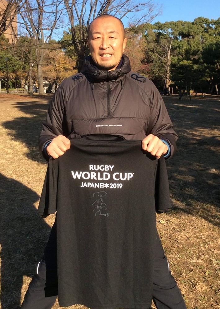 【公式】実使用・本人直筆サイン入「2019ワールドカップアンバサダーTシャツ」伊藤 剛臣