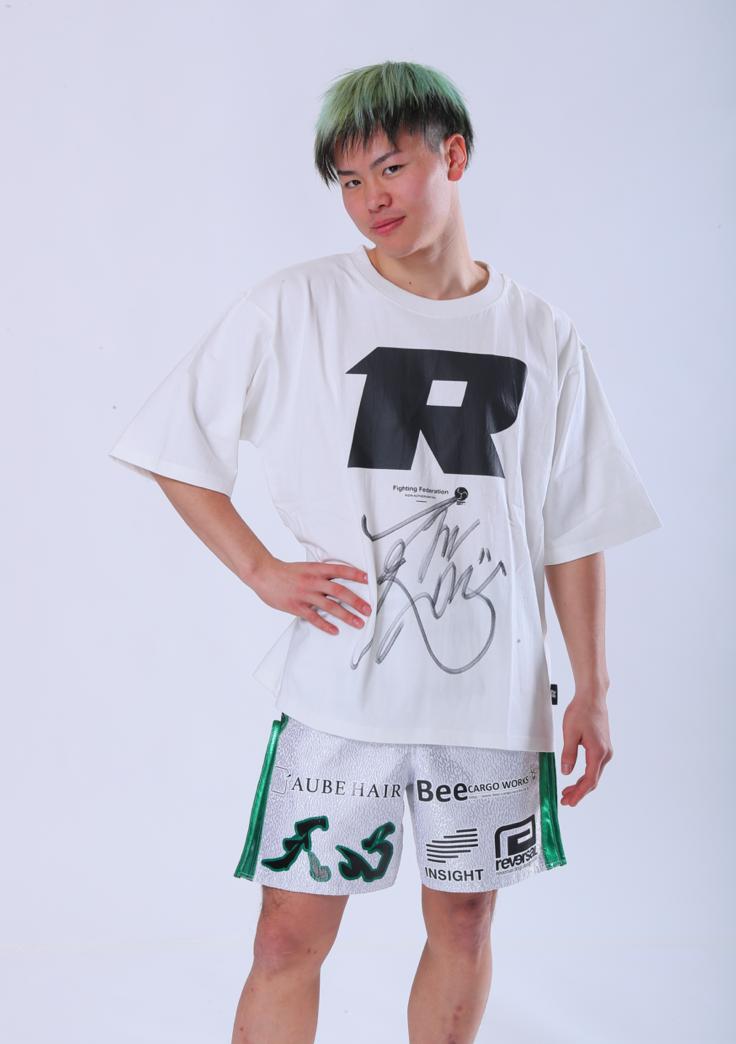 【公式】実使用・本人直筆サイン入「RIZINオリジナルTシャツ」那須川 天心