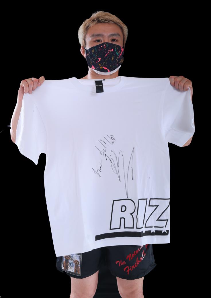 【公式】実使用・本人直筆サイン入「RIZINオリジナルTシャツ」五味 隆典