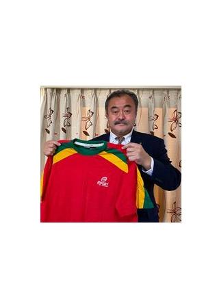 【公式】実使用・本人直筆サイン入「ポルトガルラグビーTシャツ(オックスフォードで遠征時入手)」林 敏之