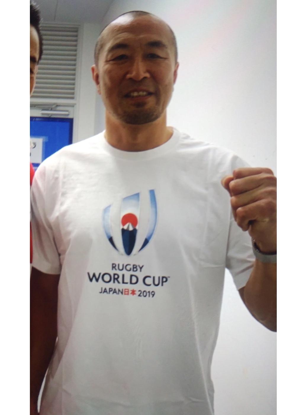 【公式】実使用「2019ラグビーワールドカップ100日前トークショー&スカイツリー点灯イベントに出演時着用Tシャツ」伊藤 剛臣
