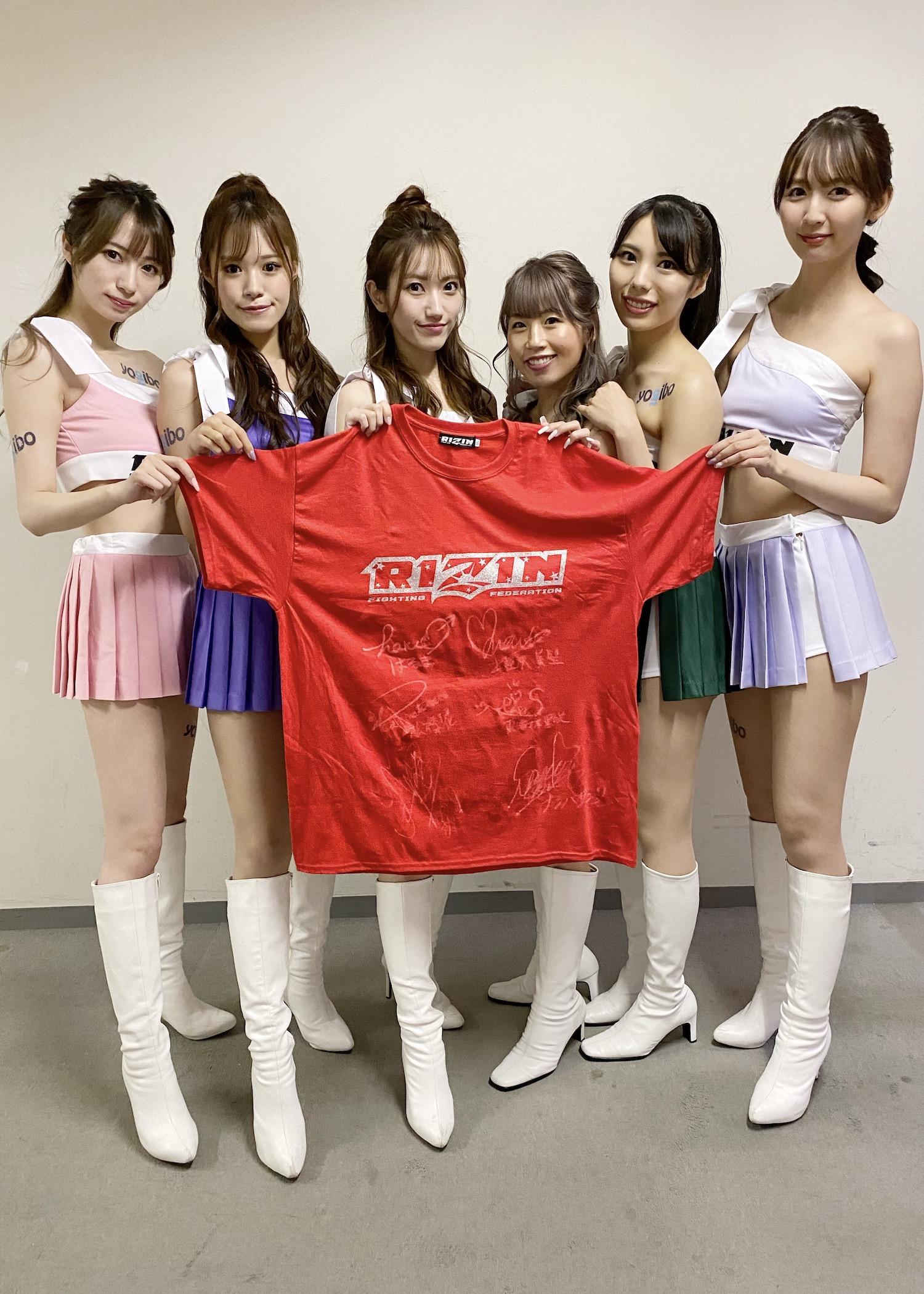 【公式】実使用・本人直筆サイン入「RIZINオリジナルTシャツ」RIZINガール2020