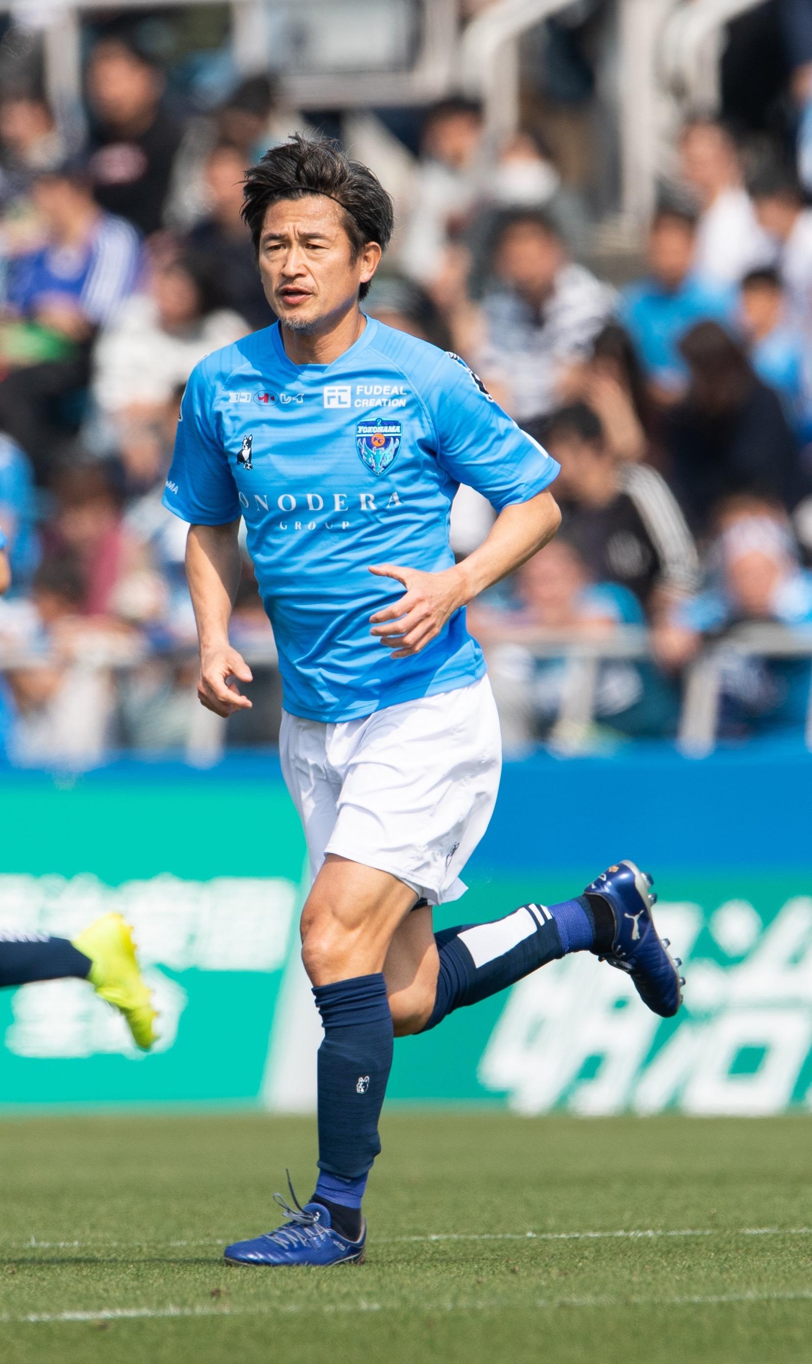【選手直筆サイン入り公式】横浜FC 2019ユニフォーム2ndユニフォーム     三浦知良 選手
