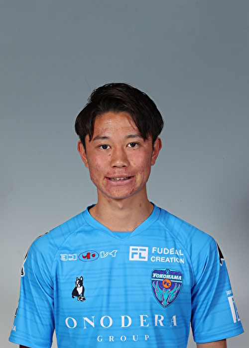 【選手直筆サイン入り着用済公式】横浜FC 2019シーズン2ndユニフォーム    齊藤功佑 選手