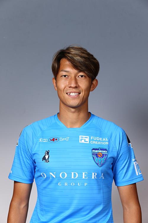 【選手直筆サイン入り着用済公式】横浜FC 2019シーズン2ndユニフォーム    皆川佑介 選手