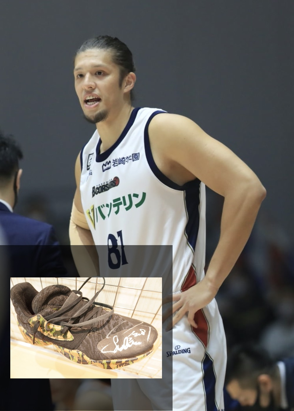 【公式】実使用・本人直筆サイン入り「バスケットボールシューズ②」#81 小原 翼