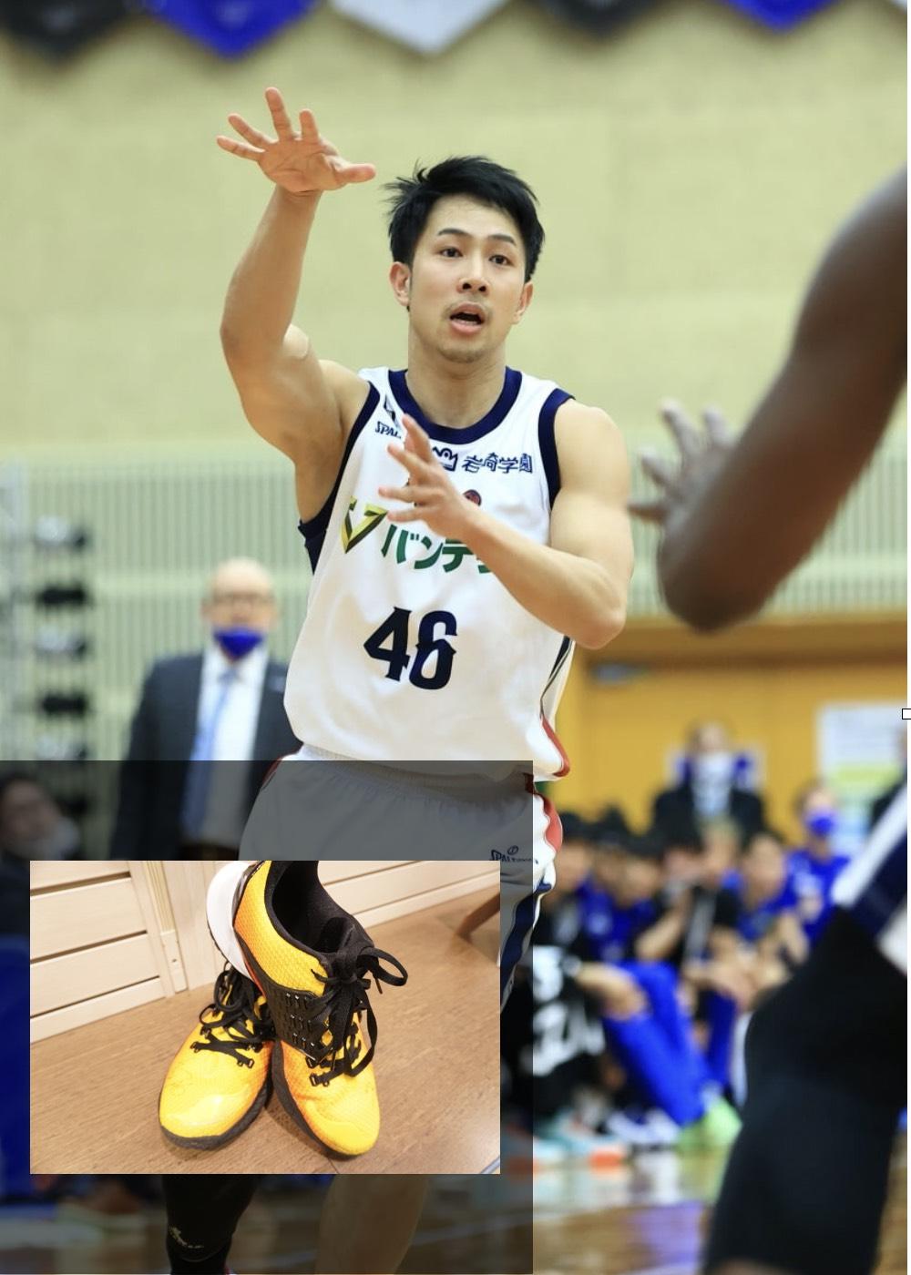 【公式】実使用・本人直筆サイン入り「バスケットボールシューズ」#46 生原 秀将