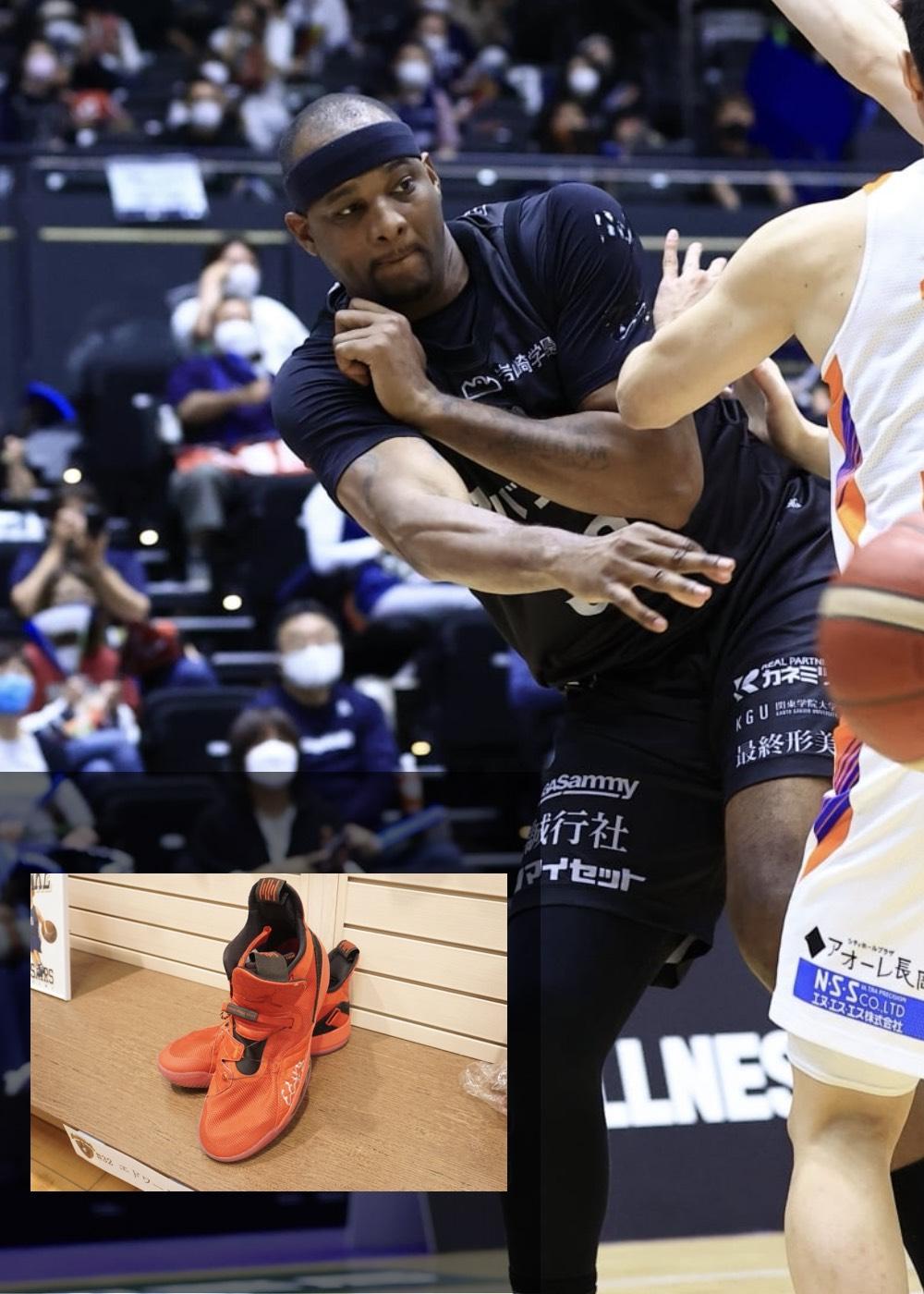 【公式】実使用・本人直筆サイン入り「バスケットボールシューズ」#32 エドワード・モリス