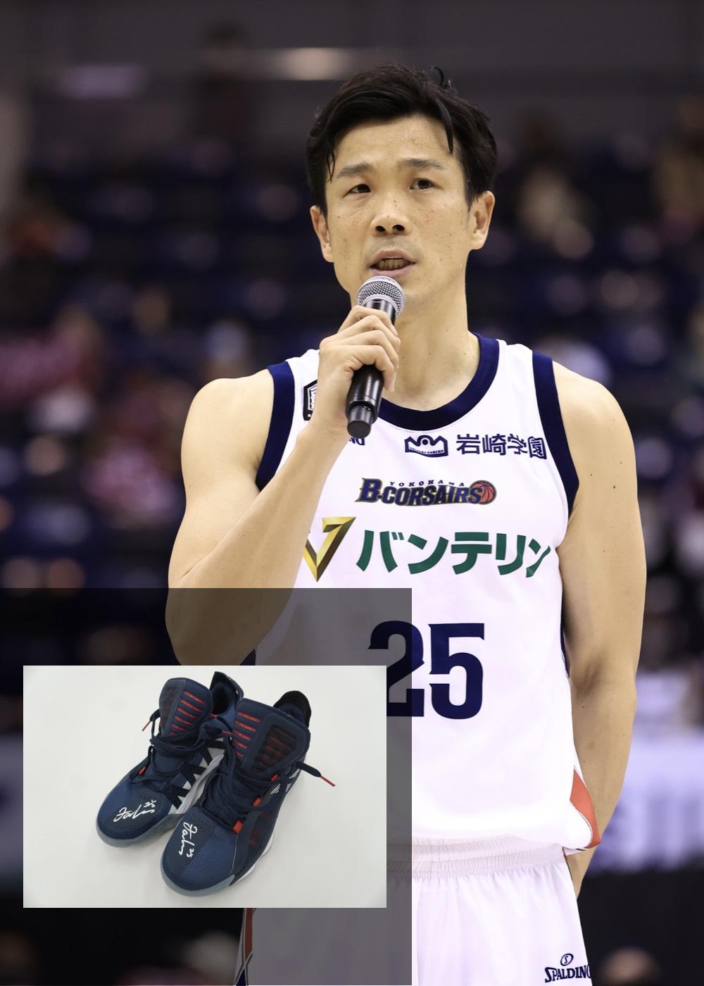 【公式】実使用・本人直筆サイン入り「バスケットボールシューズ」#25 竹田 謙