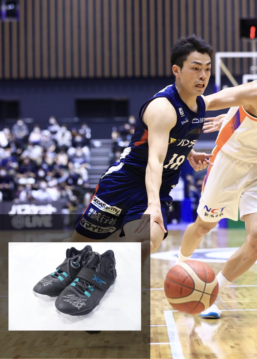 【公式】実使用・本人直筆サイン入り「バスケットボールシューズ」#18 森井 健太