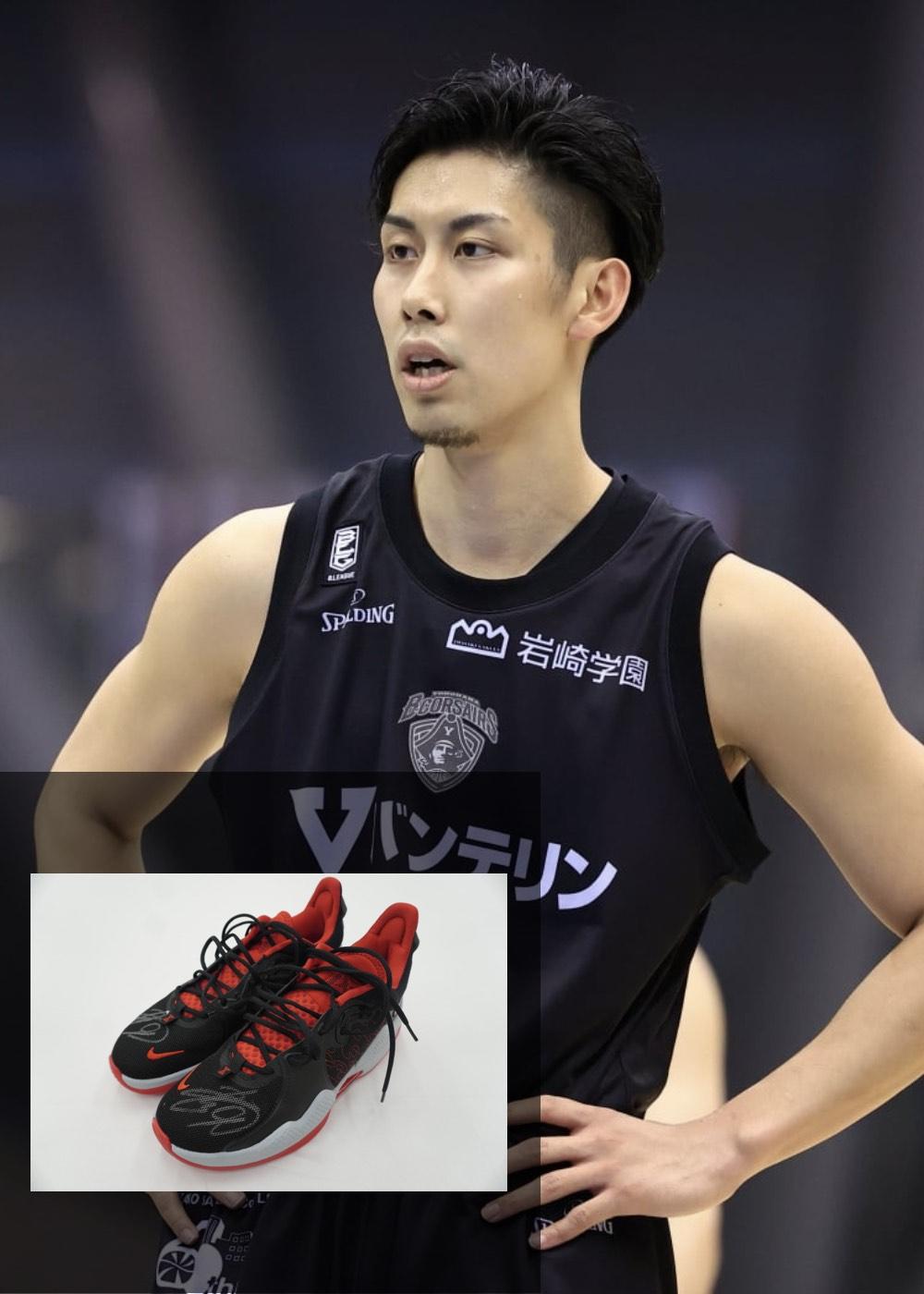 【公式】実使用・本人直筆サイン入り「バスケットボールシューズ」#9 森川 正明