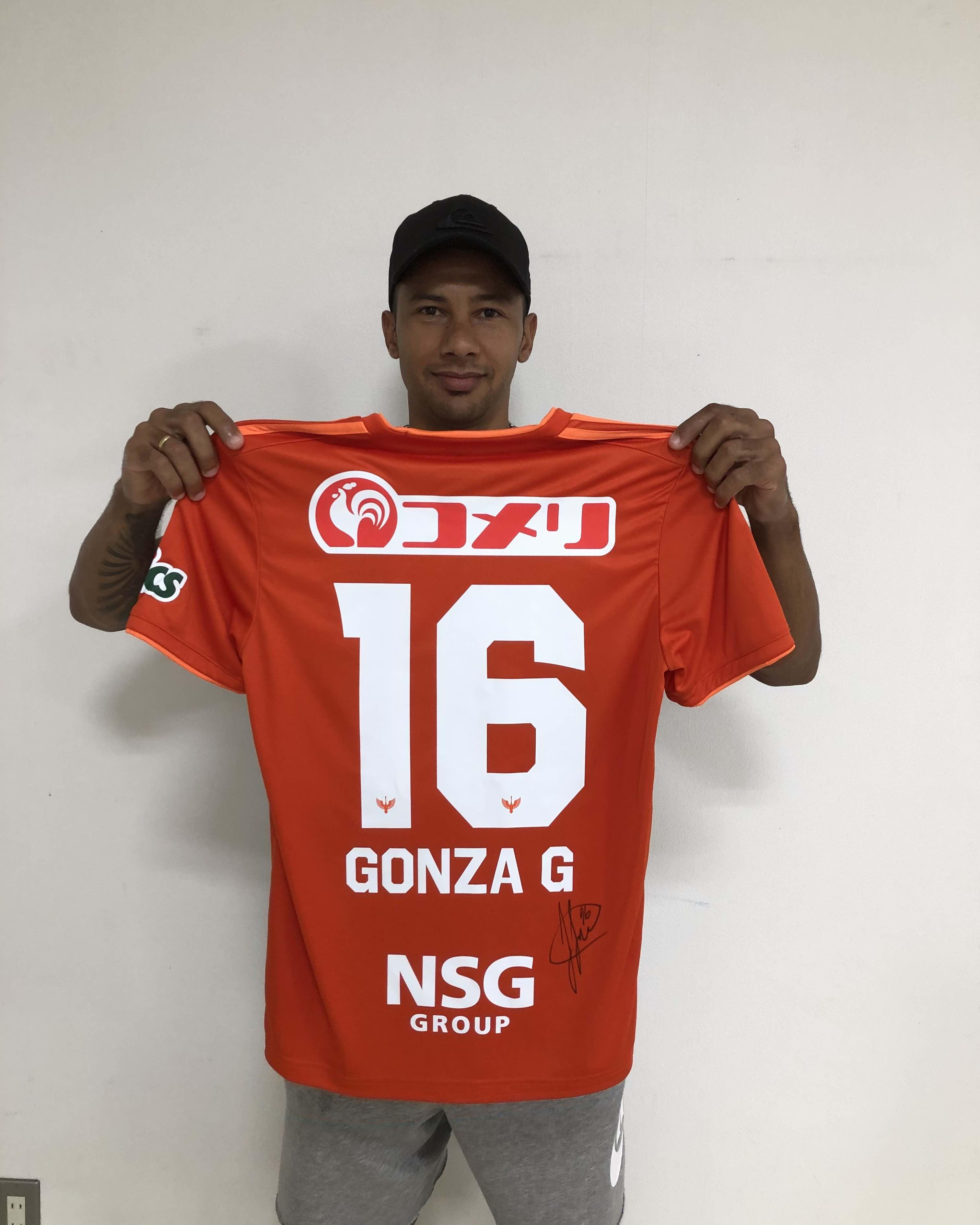 【直筆サイン入り公式】 アルビレックス新潟2020シーズン1stユニフォーム ゴンサロ ゴンザレス  選手