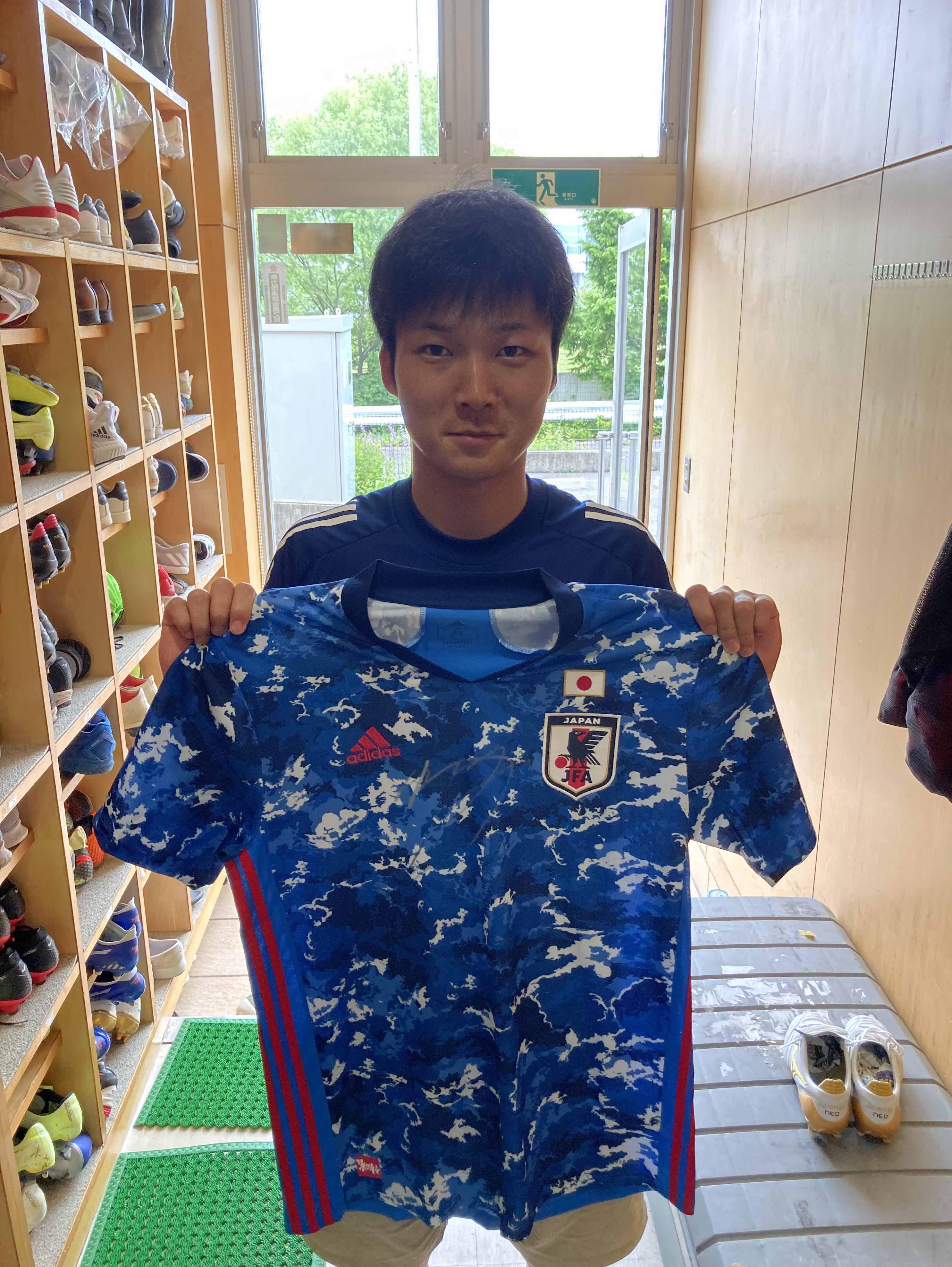 【直筆サイン入り公式】U-23日本代表 椎橋 慧也 選手(ベガルタ仙台)