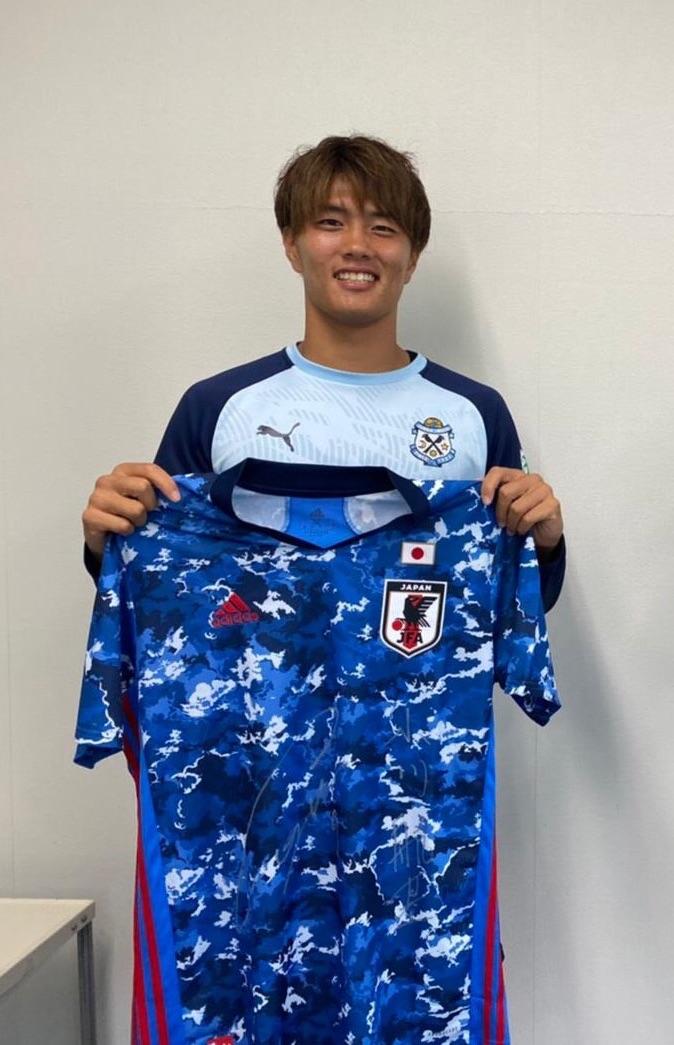 【直筆サイン入り公式】U-23日本代表 小川 航基 選手(ジュビロ磐田)