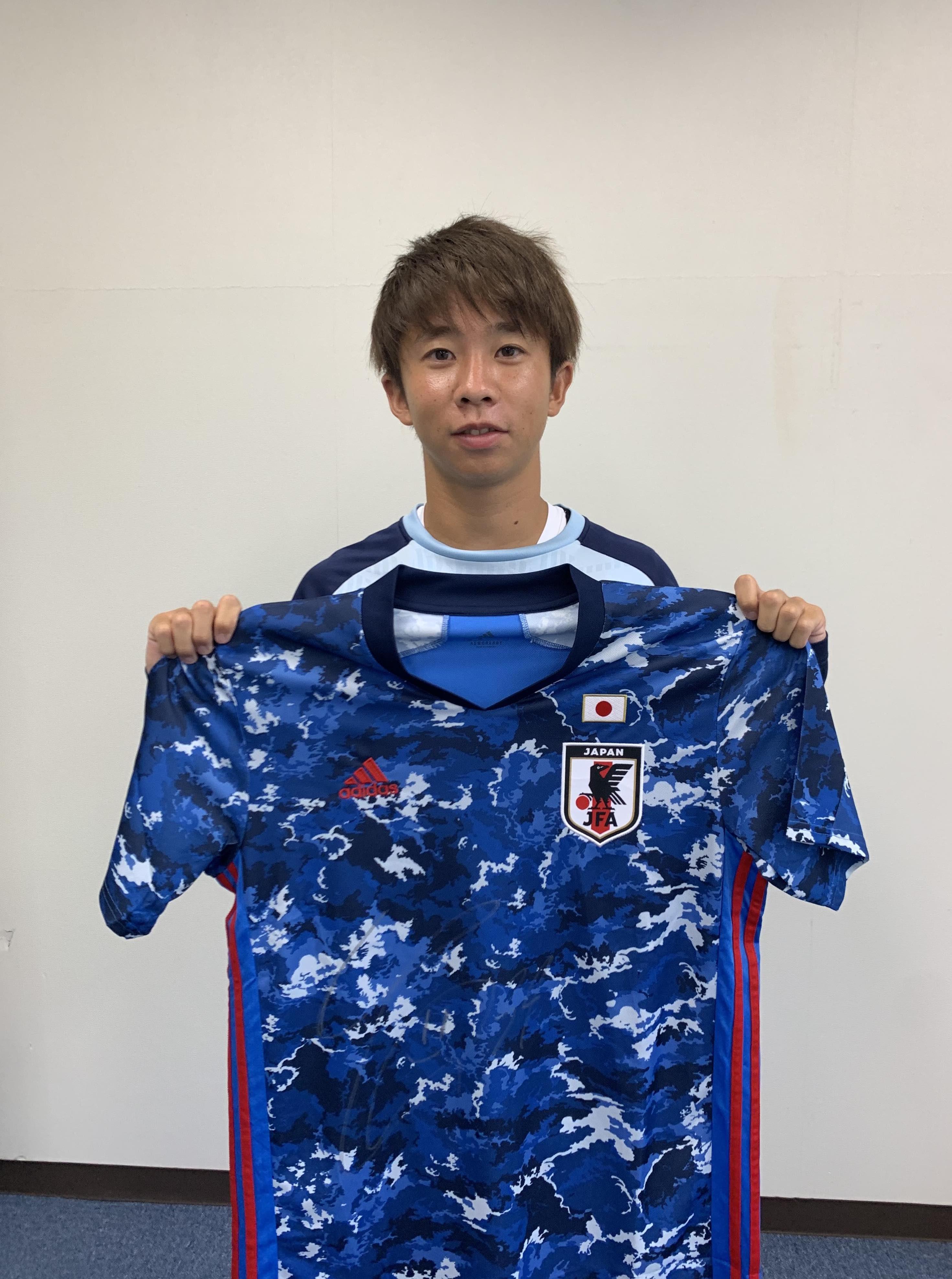 【直筆サイン入り公式】U-23日本代表 針谷 岳晃 選手(ジュビロ磐田)