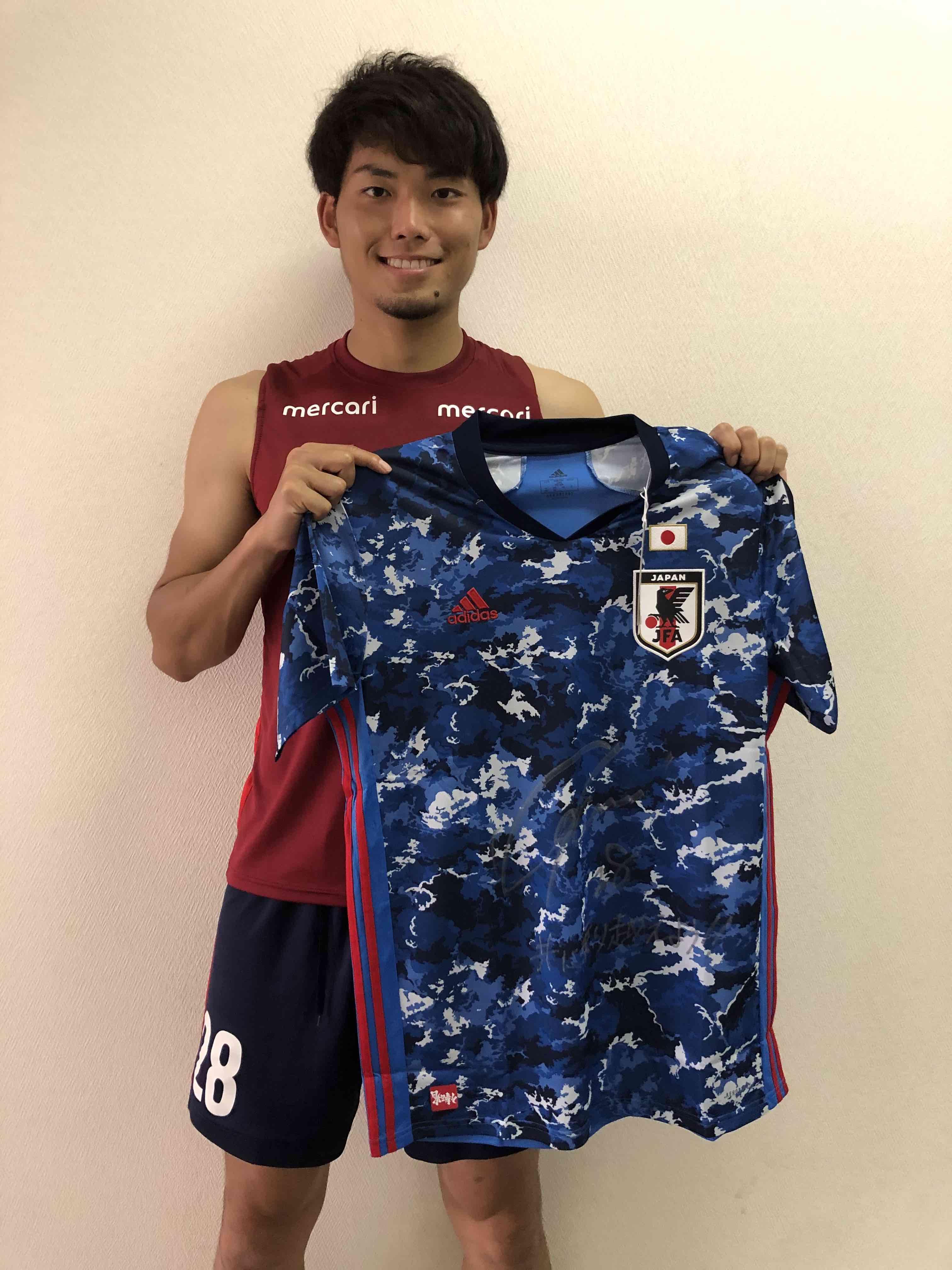 【直筆サイン入り公式】U-23日本代表 町田 浩樹 選手(鹿島アントラーズ)